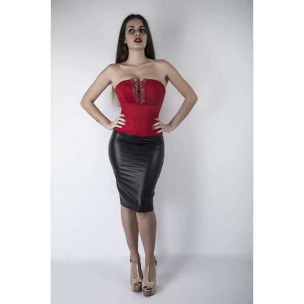 06547de99a FALDA TUBO EFECTO PIEL - Colombia Moda
